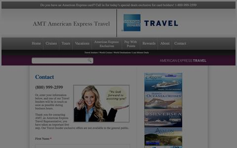 Screenshot of Contact Page amttravel.com - Contact AMT, an American Express Travel Representatives - captured Oct. 4, 2014