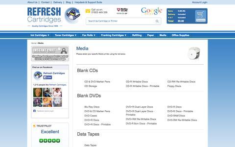 Screenshot of Press Page refreshcartridges.co.uk - Media - captured Sept. 19, 2014