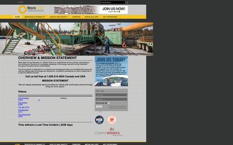 Screenshot of Home Page blackgoldcoring.com - Black Gold Coring - captured Feb. 7, 2016