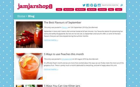 Screenshot of Blog jamjarshop.com - Jam Jar Shop - captured Dec. 5, 2016
