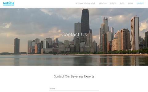 Screenshot of Contact Page imbibeinc.com - Contact Us | Imbibe - captured Sept. 26, 2016
