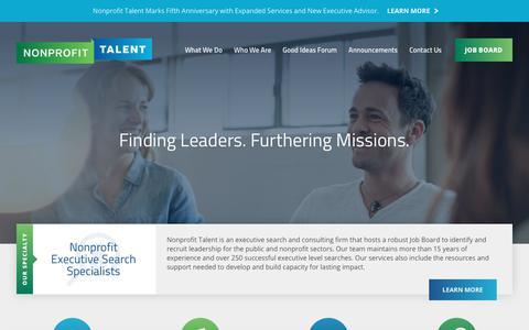 Nonprofit Talent | Advance Your Mission