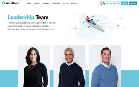Screenshot of Team Page workboard.com - WorkBoard Leadership Team - captured Aug. 15, 2019