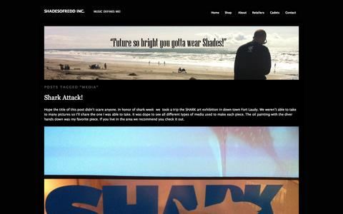 Screenshot of Press Page shadesofredd.com - media | SHADESOFREDD INC. - captured Oct. 3, 2014