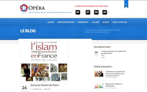 Screenshot of Press Page asso-opera.fr - Le blog  |  Association OPÉRA | Comprendre le passé pour mieux construire l'avenir… - captured April 1, 2016