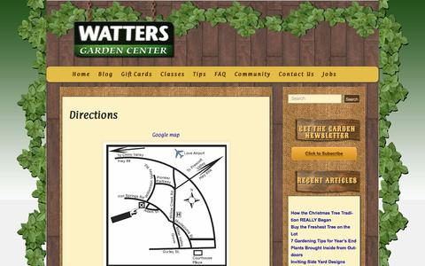 Screenshot of Maps & Directions Page wattersgardencenter.com - Directions - Watters Garden Center - captured Dec. 13, 2016