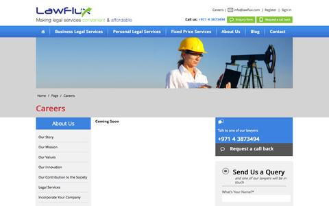 Screenshot of Jobs Page lawflux.com - Careers with Lawflux - captured Oct. 28, 2014