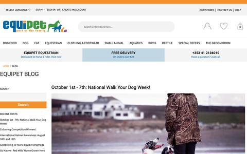 Screenshot of Blog equipetstores.com - EQUIPET BLOG | EQUIPET BLOG  | Equipet - captured Sept. 28, 2018