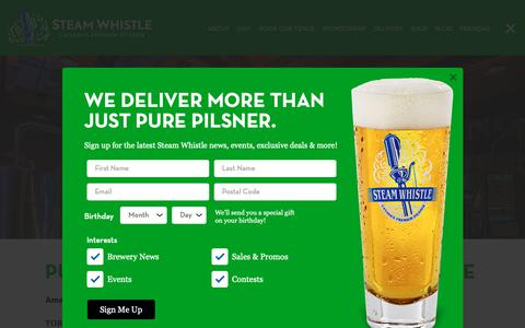 Screenshot of Press Page steamwhistle.ca - News | Steam Whistle Brewing - captured March 9, 2019