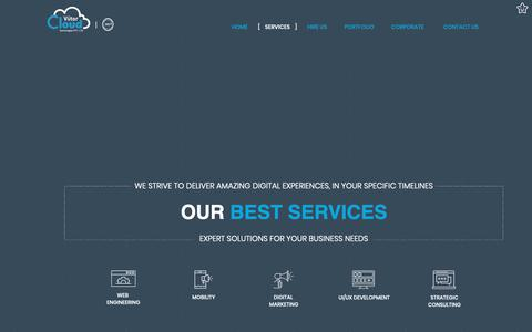 Screenshot of Services Page viitorcloud.com - IT Marketing Solutions: Web Engineering, Mobility, UI UX, Digital Marketing | Strategic Consulting - captured Sept. 27, 2018