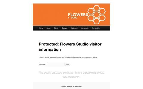 Screenshot of Maps & Directions Page flowersstudio.com - Flowers Studio visitor information | Flowers Studio - captured June 21, 2016