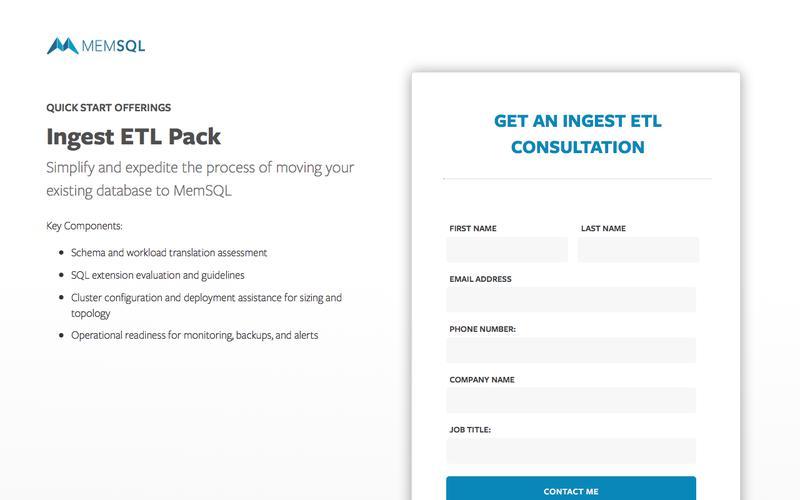 Quick Start Offering - Ingest ETL Pack