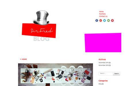 Screenshot of Blog sirfred.com - BLOG | - captured Jan. 13, 2016