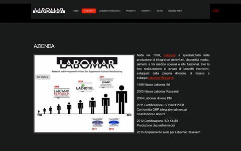 Screenshot of About Page labomar.com - Labomar-Azienda-Istrana (TV) - captured July 19, 2014