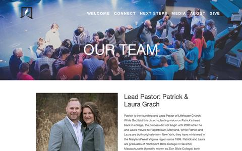 Screenshot of Team Page lifehousechurch.org - Our Team — LIFEHOUSE CHURCH - captured July 19, 2018