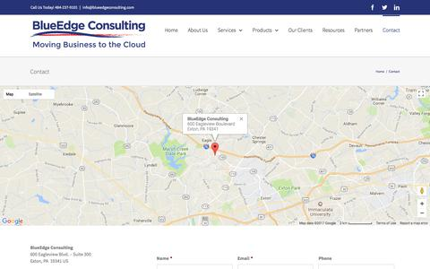 Screenshot of Contact Page blueedgeconsulting.com - Contact – BlueEdge Consulting - captured Oct. 10, 2017