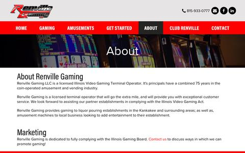 Screenshot of About Page renvillegaming.com - About - Renville Gaming LLC - captured Oct. 18, 2018