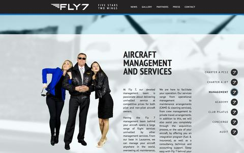 Screenshot of Team Page fly7.ch - Aircraft management and services | Fly 7 - captured Feb. 10, 2016