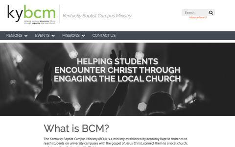 Screenshot of Home Page kybcm.org - KYBCM - Home   KYBCM - captured Nov. 26, 2018