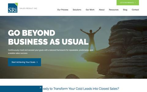 Screenshot of Home Page salesresult.com - SRi   Customized Sales Consulting Solutions - captured June 22, 2016
