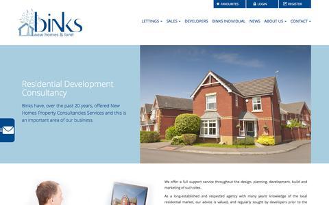 Screenshot of Developers Page binksweb.com - Residential Development Consultancy | Binks Estate Agents in Chorleywood and Amersham< - captured Feb. 7, 2016
