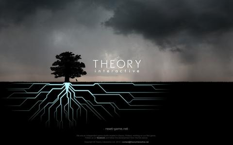 Screenshot of Home Page theoryinteractive.net - Theory Interactive Ltd. - captured Oct. 9, 2014