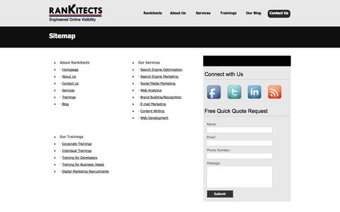 Screenshot of Site Map Page rankitects.com - Sitemap - Rankitects - captured Oct. 7, 2014