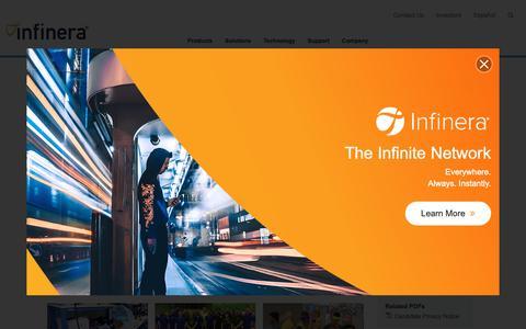 Screenshot of Jobs Page infinera.com - Careers - Optical Network Solutions   Infinera - captured Feb. 19, 2019