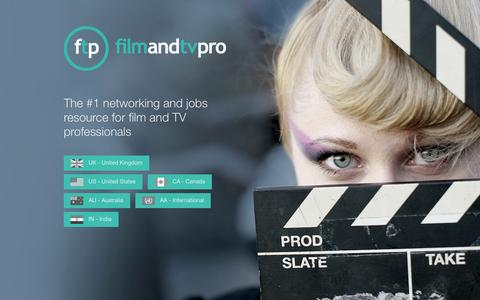 Screenshot of Home Page filmandtvpro.com - Welcome to Film and TV Pro   Film and TV Pro - captured Aug. 3, 2015