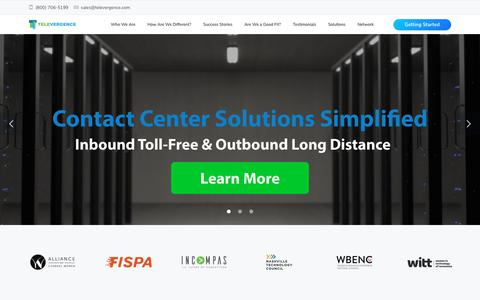 Screenshot of Home Page tsicorp.net - Televergence – Long Distance & Toll Free Service Specialist - captured Nov. 16, 2018
