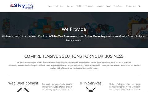 Screenshot of Services Page skylite.com - Application Development - captured Oct. 18, 2018