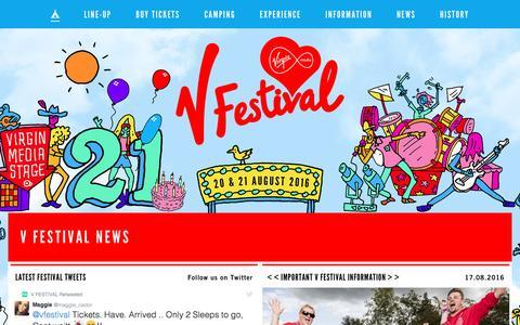 Screenshot of Home Page vfestival.com - V Festival - captured Aug. 17, 2016