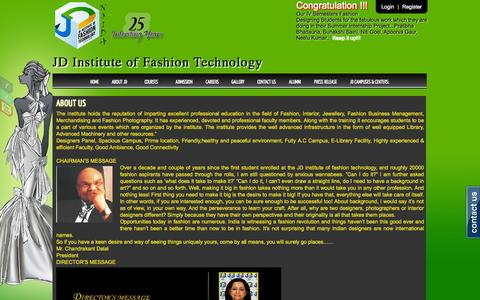 Screenshot of About Page jdfashioninstitute.com - Interior designing course in noida, fashion design course, jewellery designing courses, fashion designing courses in Delhi | JD Fashion Institute - captured Oct. 3, 2014