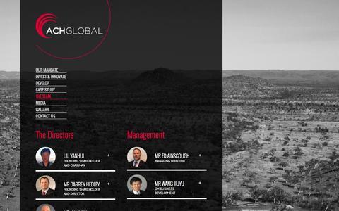 Screenshot of Team Page achglobal.com.au - The Team - ACH Global - captured Sept. 30, 2014