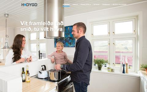 Screenshot of Home Page hdygd.fo - Forsíða- HDYGD - captured June 9, 2016
