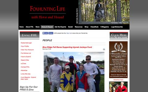 Screenshot of Team Page foxhuntinglife.com - People - captured Sept. 30, 2014