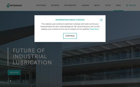 Screenshot of Press Page pli-petronas.com -   PETRONAS Lubricants International (PLI) - captured Nov. 28, 2018