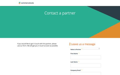Screenshot of Landing Page commercetools.com - Commercetools   Get in touch with our partners - captured July 9, 2016