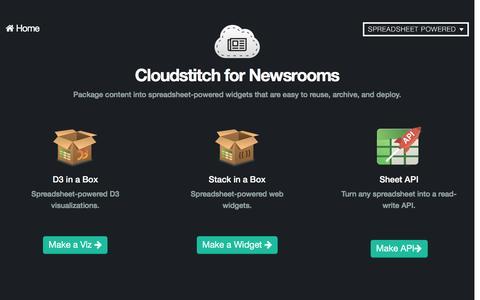 Screenshot of Press Page cloudstitch.com - Cloudstitch for Newsroom Development - captured Feb. 2, 2016