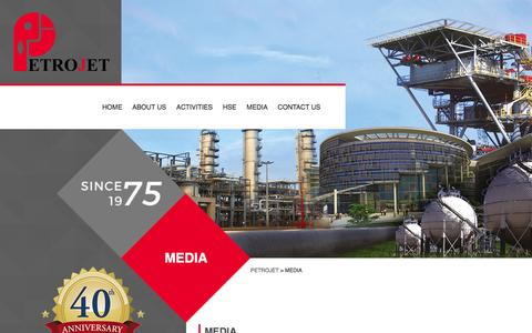 Screenshot of Press Page petrojet.com.eg - Media | Petrojet - captured Feb. 4, 2016