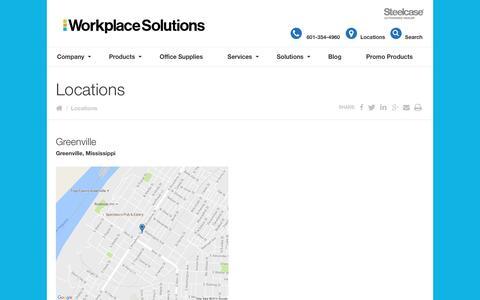 Screenshot of Locations Page barefieldandcompany.com - Locations - Workplace Solutions - captured Nov. 22, 2016
