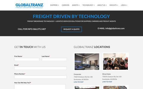 Contact GlobalTranz | 866-275-1407 | Freight Brokerage Technology & 3PL