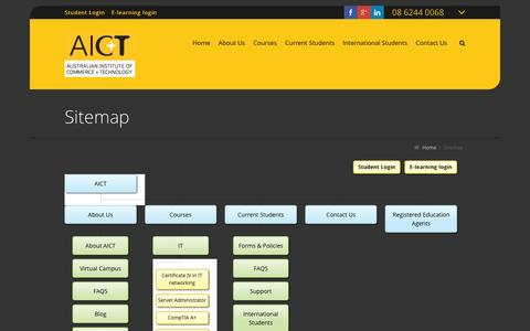 Screenshot of Site Map Page aict.wa.edu.au - Sitemap | AICT - captured Feb. 4, 2016