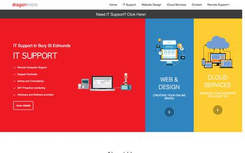 Screenshot of Home Page dragonmicro.co.uk - IT Support Bury St Edmunds · Dragonmicro - captured Nov. 24, 2016