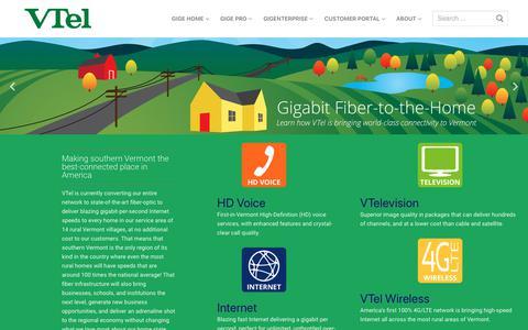Screenshot of Home Page vermontel.com - Vermont Telephone Company - captured Nov. 15, 2018