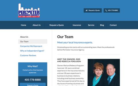 Screenshot of Team Page perimeterins.com - Our Team - Oklahoma City, OK | Perimeter Insurance Agency - captured July 28, 2017
