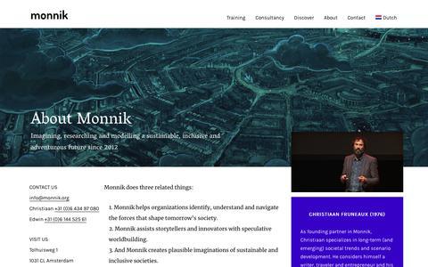 Screenshot of About Page monnik.org - About Monnik – Monnik - captured Nov. 7, 2018