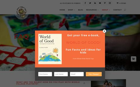 Screenshot of FAQ Page wholewideworldtoys.com - FAQ - Whole Wide World Toys - captured Dec. 20, 2018