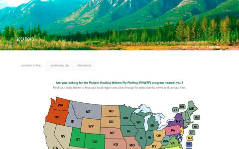 Screenshot of Locations Page projecthealingwaters.org - LOCATIONS – Project Healing Waters Fly Fishing - captured Dec. 15, 2018