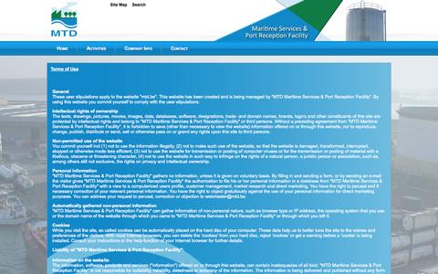 Screenshot of Terms Page mtd.be - Terms of Use - MTD - captured Oct. 1, 2014